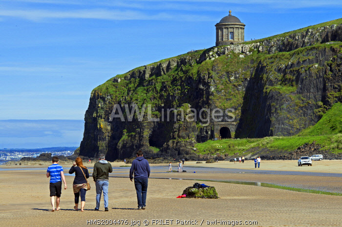 awl-images.com - Northern Ireland / United Kingdom, Northern Ireland, County Derry, at Mussendun Temple, the 120ft-high cliffs plummet to Downhill Beach, otherwise known as Dragonstone, and where Stannis Baratheon watched as the Seven Idols of Westeros burned,