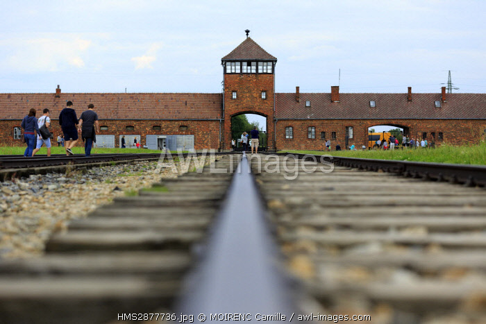 awl-images.com - Poland / Poland, Lesser Poland, Brzezinka, concentration camp and extermination camp of Birkenau Auschwitz II, listed as World Heritage by UNESCO