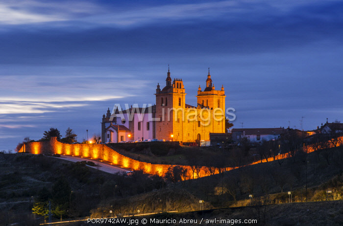 awl-images.com - Portugal / The Cathedral of the walled city of Miranda do Douro at dusk. Tras-os-Montes, Portugal