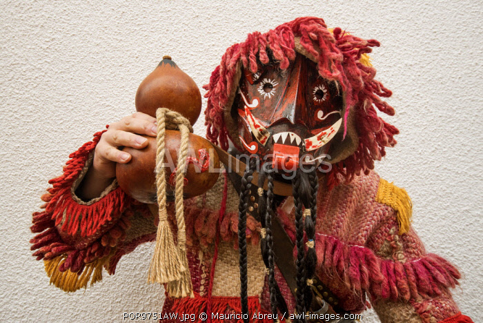 awl-images.com - Portugal / Traditional mask used during the Winter Solstice Festivities. Parada de Infancoes, Tras-os-Montes. Portugal