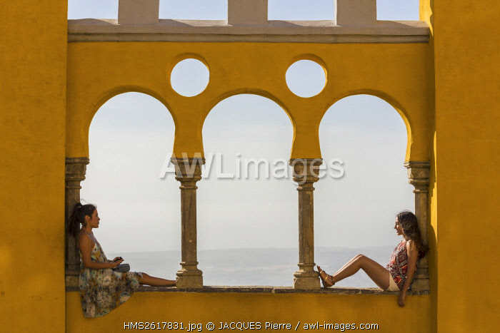 Portugal, Lisboa e Setubal Province, Sintra listed as World heritage by UNESCO, Pena National Palace, the courtyard of arches ( Patio dos Arcos)