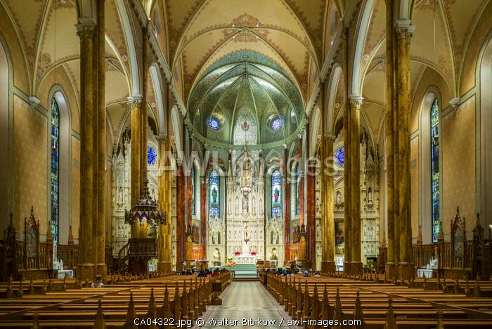 Canada, Quebec, Montreal, Saint Patrick's Basilica