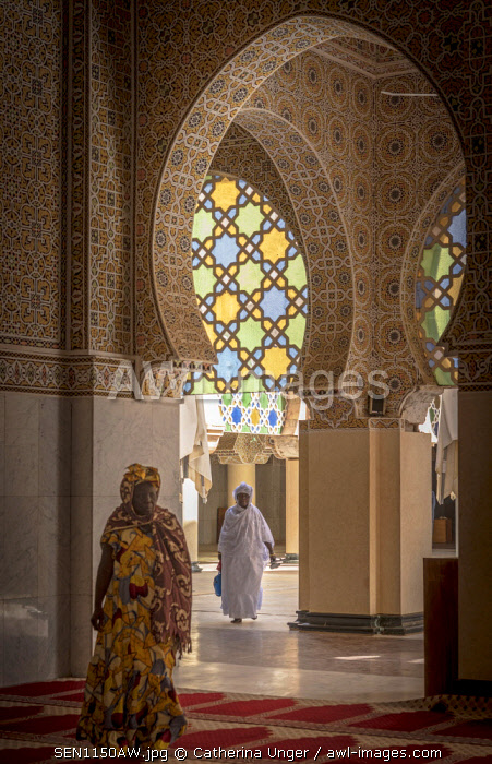 Africa, Senegal, Touba. The great mosque of Touba, detail.