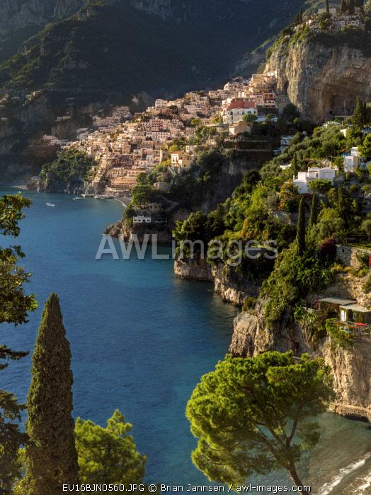 Amalfi Coast looking toward Positano, Campania, Italy