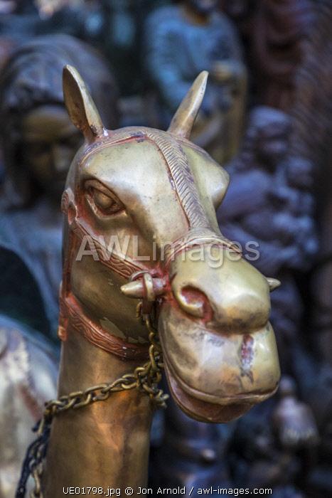Brass camel in a Souk, Dubai, United Arab Emirates