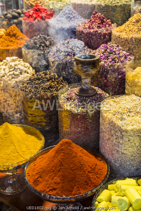 Spices at the Deira Souk, Dubai, United Arab Emirates