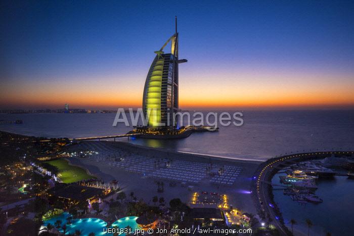 Burj Al Arab hotel, Jumeirah, Dubai, United Arab Emirates