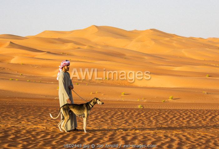 Saluki dog, Empty Quarter (Rub Al Khali), Abu Dhabi, United Arab Emirates