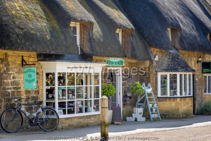 Shops along the High Street in Broadway, Cotswolds, England