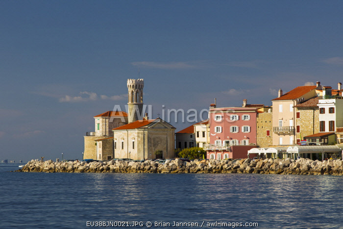 Church of St. Clement and buildings of Piran, Primorska, Slovenia