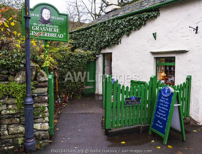 Gingerbread shop in Grasmere, Cumbria, England