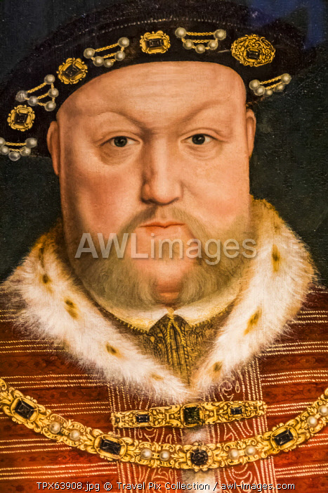 England, Portrait of King Henry VIII by Hans Holbein The Younger