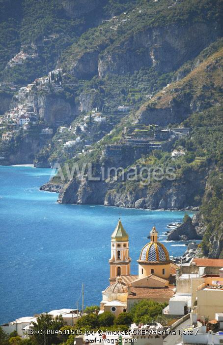 Chiesa Parrocchiale San Gennaro, Praiano, Amalfi Coast, Campania, Italy, Europe