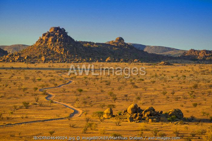 Mountainous landscape near Twyfelfontein, Kunene region, Namibia, Africa