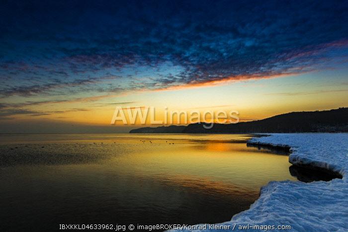 Coast near Binz in winter, Rugen, Mecklenburg-Western Pomerania, Germany, Europe