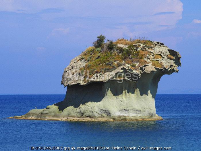 Rock Fungo in the sea near Lacco Ameno, Ischia, Calabria, Italy, Europe