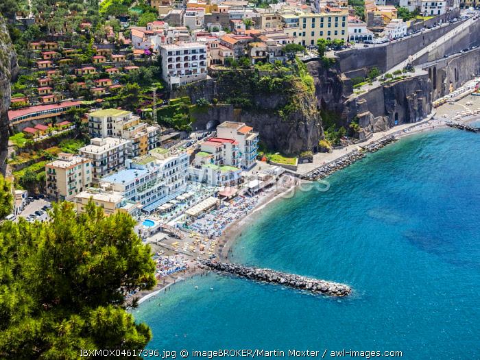 View of the coast, Sorrento, Gulf of Naples, Campania, Italy, Europe