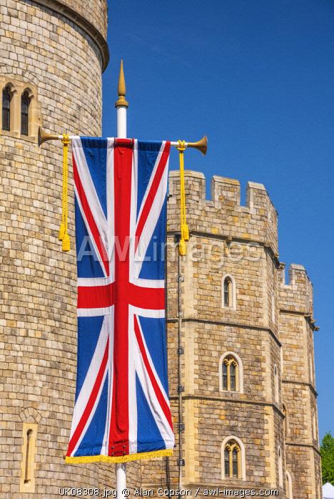 UK, England, Berkshire, Windsor, Windsor Castle, Decorations for wedding of Prince Harry and Meghan Markle