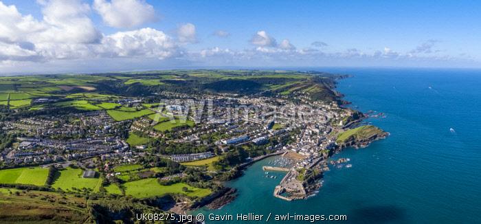 United Kingdom, Devon, North Devon coast, Ilfracombe, aerial view over the town