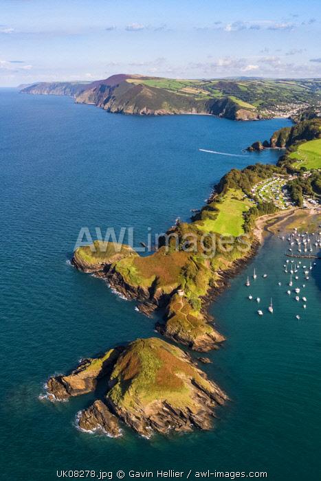 United Kingdom, Devon, North Devon coast, coastal scenery at Watermouth Bay near Ilfracombe