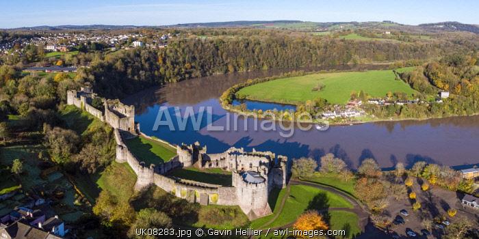 United Kingdom, Wales, Gwent, Chepstow Castle, River Wye
