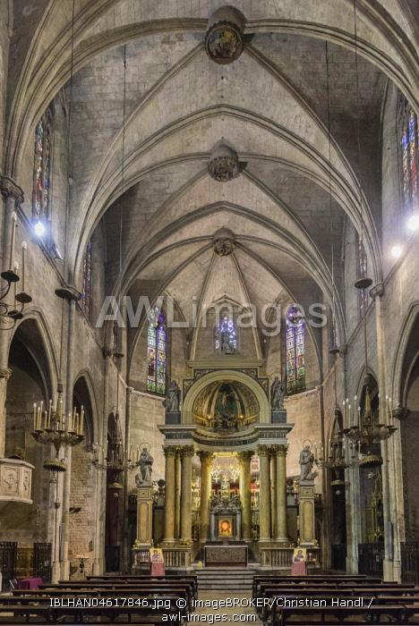 Sanctuary, Basilica, Basilica dels Sants Martirs Just i Pastor, Barcelona, Catalonia, Spain, Europe