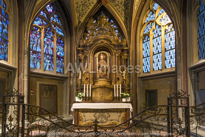 Altar room, Aachen Cathedral, Aachen, North Rhine-Westphalia, Germany, Europe