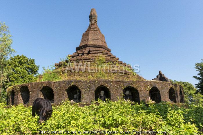 Phra Ouk Paya, Mrauk U, Burma, Myanmar, Asia