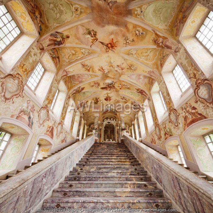 Sacred Staircase at the Kreuzbergkirche, Kreuzberg, Bonn, Rhineland, North Rhine-Westphalia, Germany, Europe