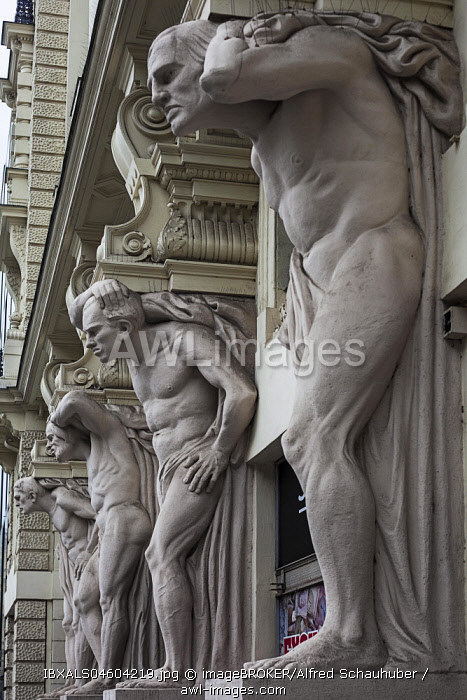 House of the Four Bengels, Caryatids, Brno, Brno, South Moravian Region, Czech Republic, Europe