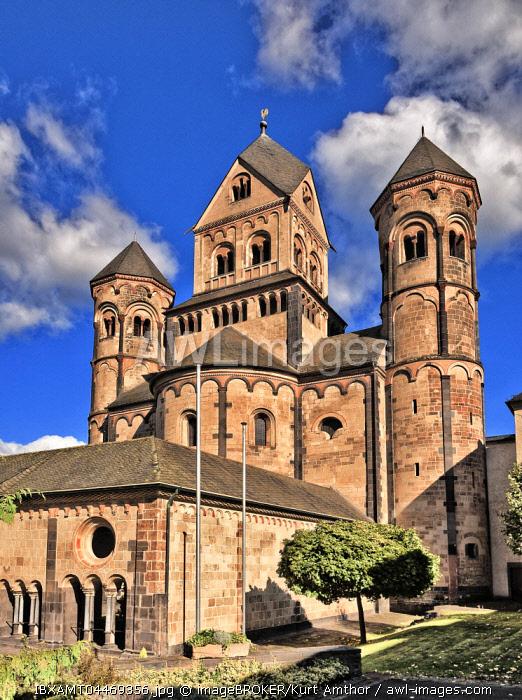 Maria Laach abbey, monastery church, medieval monastery, Glees, Eifel, Rhineland-Palatinate, Germany, Europe