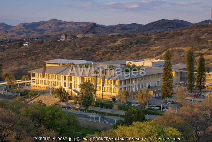 Parliament building from German colonial times, called Ink Palace, centre, Windhoek, Namibia, Africa