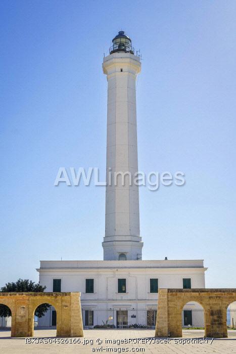 Lighthouse, Leuca di Santa Maria, Puglia, Italy, Europe