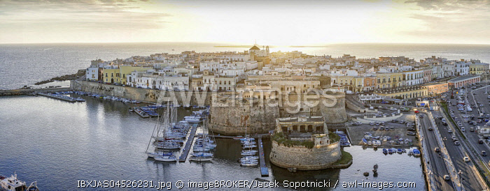 Panorama of Gallipoli, Puglia, Italy, Europe