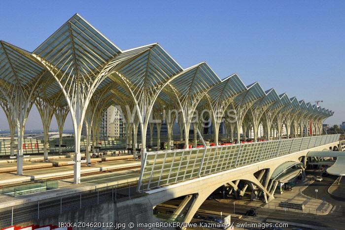 Railway station Gare do Oriente, architect Santiago Calatrava, Lisbon, Portugal, Europe