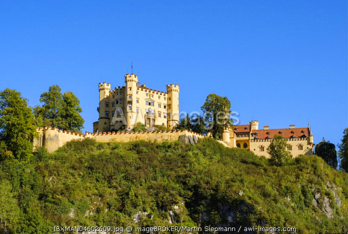 Hohenschwangau Castle, Schwangau, Konigswinkel, Ostallgau, Allgau, Swabia, Bavaria, Germany, Europe