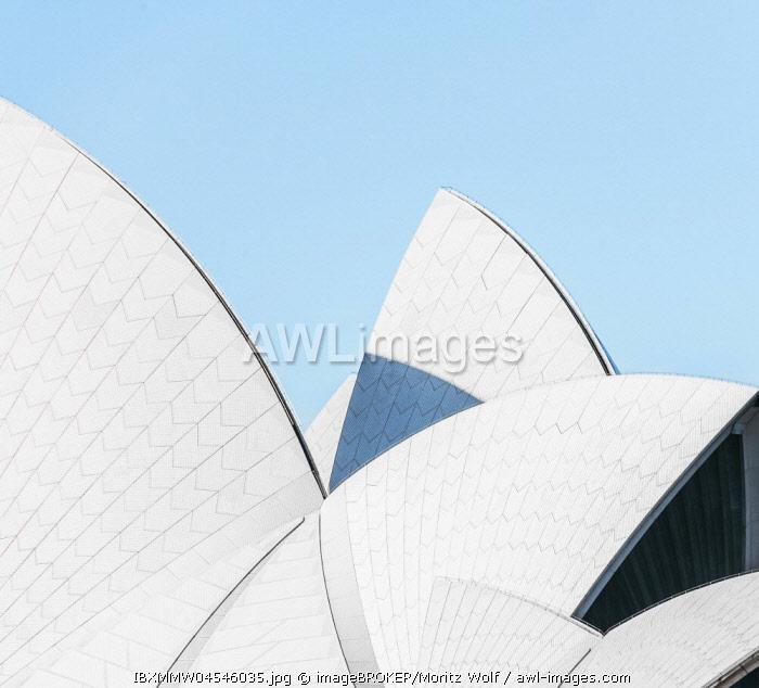 Detail, roof of Sydney Opera House, Sydney Opera House, Bennelong Point, Sydney, New South Wales, Australia, Oceania
