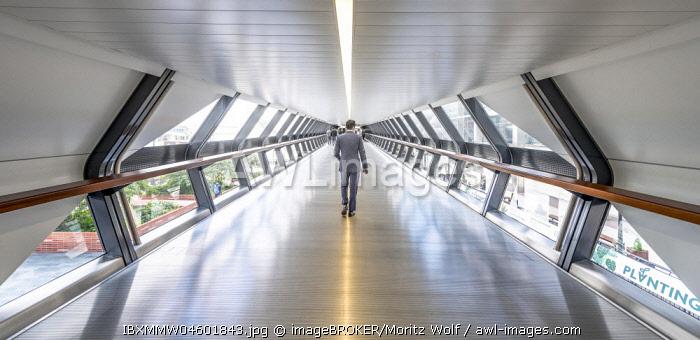 Modern Architecture, Adams Plaza Pedestrian Bridge, One Canada Square, Canary Wharf, London