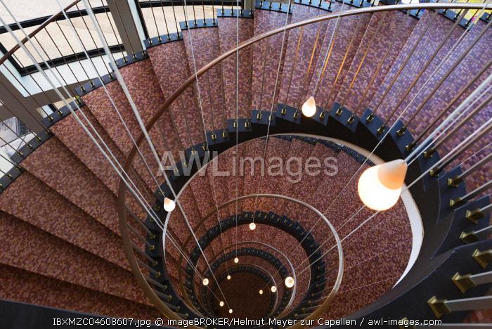 Staircase of the 1950s, AMD Hamburg, City of Hamburg, Germany, Europe