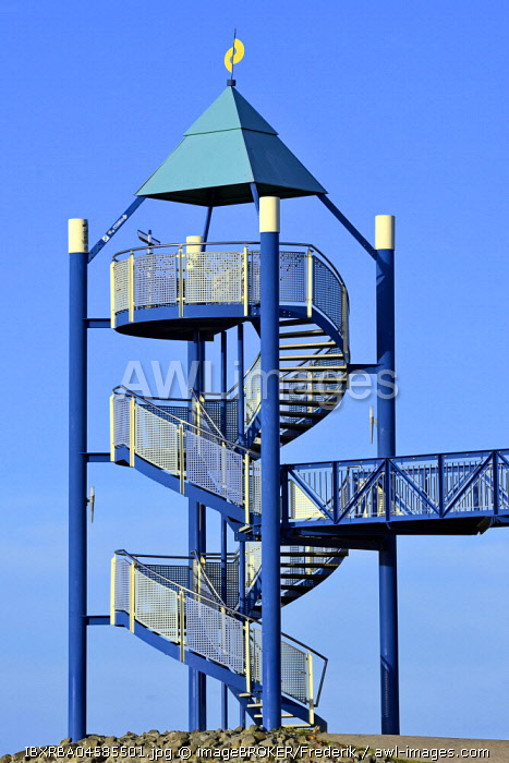 Viewing platform at the Haus des Gastes, Norddeich, Lower Saxony, Germany, Europe