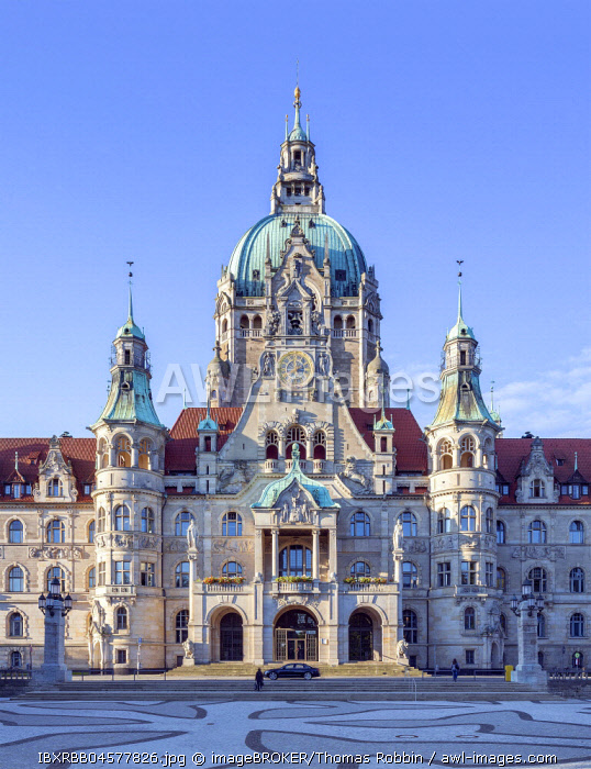 New town hall, Hanover, Lower Saxony, Germany, Europe