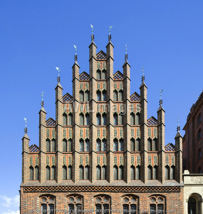 Gable, Old Town Hall, North German Brick Gothic, Hanover, Lower Saxony, Germany, Europe
