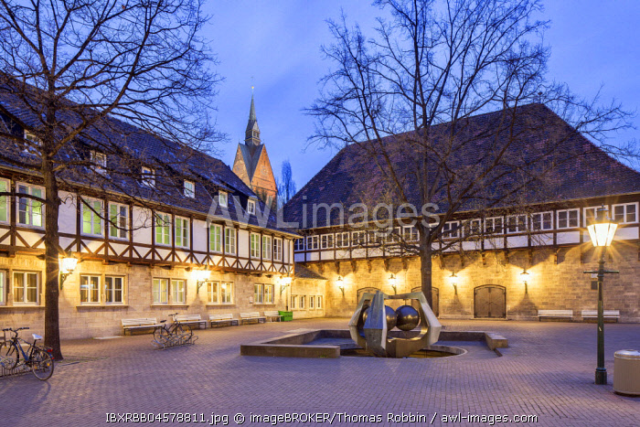 Ballhof, evening twilight, Hannover, Lower Saxony, Germany, Europe