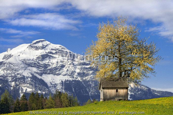 Kupfererkapelle in spring, Gallzein, Tyrol, Austria, Europe