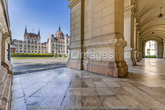Cross vault at the Parliament, Budapest, Hungary, Europe