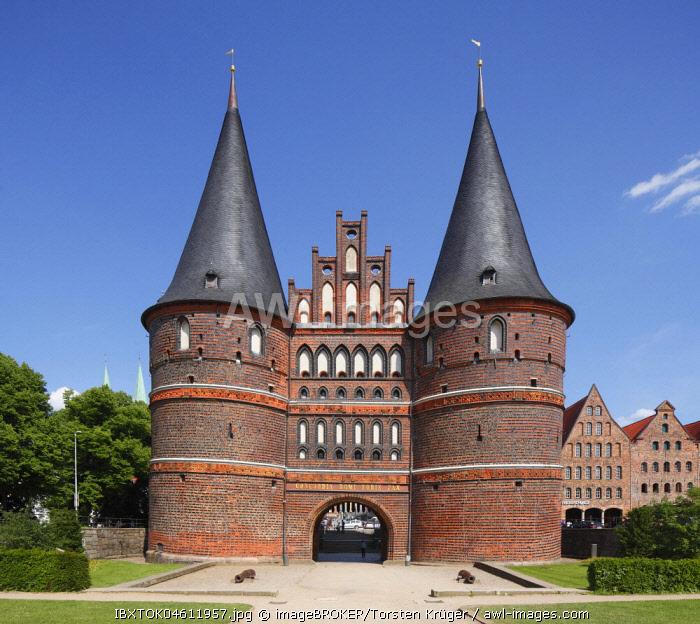 Holstentor Gate, Luebeck, Schleswig-Holstein, Germany, Europe