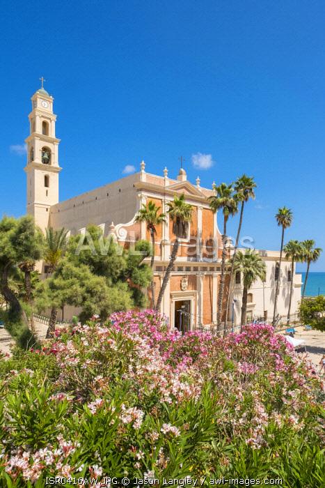 Israel, Tel Aviv District, Tel Aviv-Yafo. Jaffa old town, St. Peter's Church.