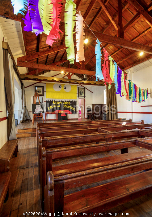 Old Bethel Chapel, interior, Gaiman, The Welsh Settlement, Chubut Province, Patagonia, Argentina