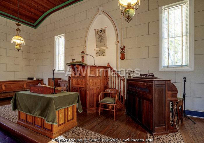 New Bethel Chapel, interior, Gaiman, The Welsh Settlement, Chubut Province, Patagonia, Argentina