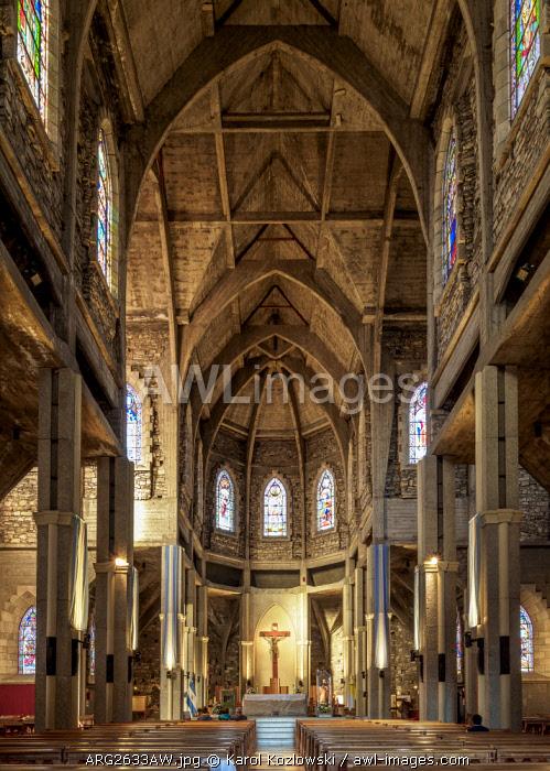 Cathedral of San Carlos de Bariloche, interior, Nahuel Huapi National Park, Rio Negro Province, Argentina